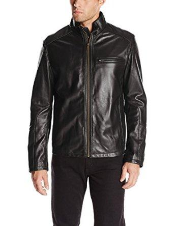 Deal of the Day Cole Haan Men's Smooth Leather Moto Jacket