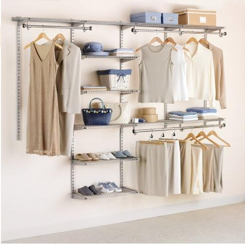 Rubbermaid Configurations Custom Closet Deluxe Kit, Titanium, 4-8 Foot