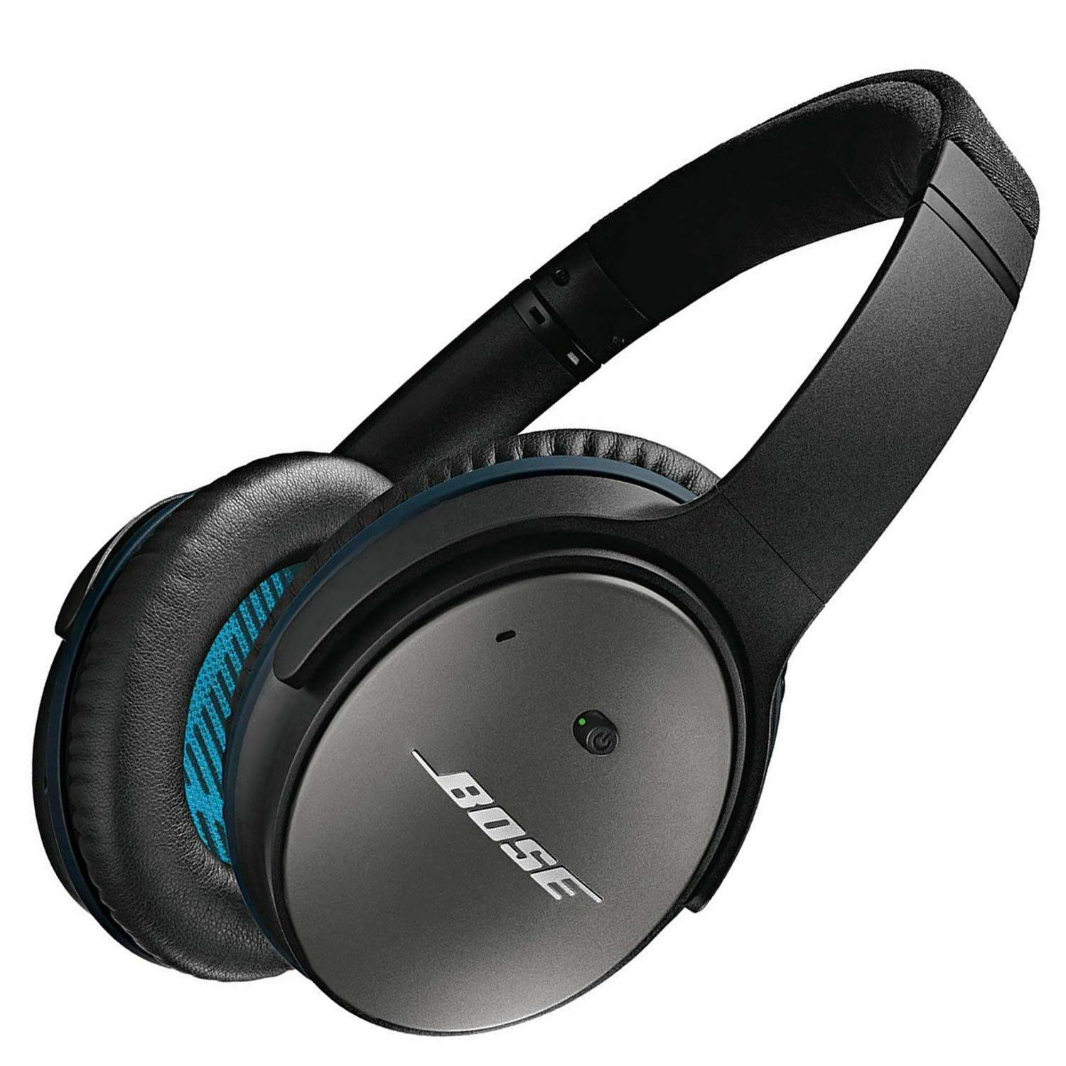 Bose QuietComfort 25 Acoustic Noise Cancelling Headphones for Apple devices- Black (Refurbished)