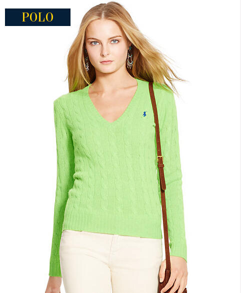 Ralph Lauren Wool-Blend V-Neck Sweater