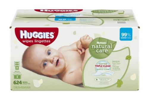 Huggies Natural Care Baby Wipes Refill, 624 Count @ Amazon