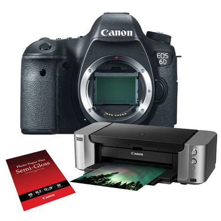 $1099.99 Canon EOS 6D DSLR Camera with Pro-100 Special Promotional Bundle