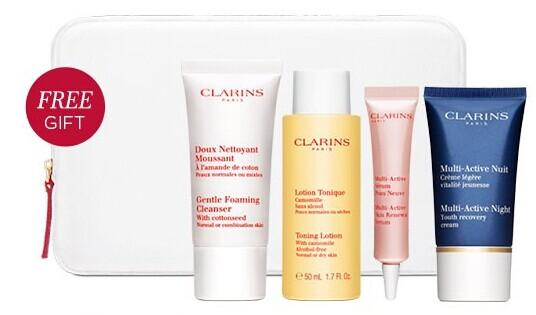 Free 5-Pc Gift with purchase of $75 @ Clarins