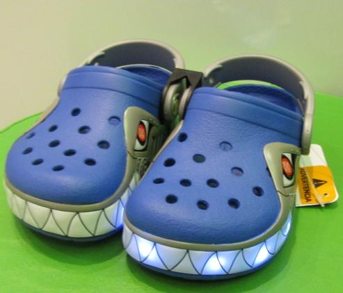 crocs Kids' Robo Shark Light-Up Clog @ Amazon