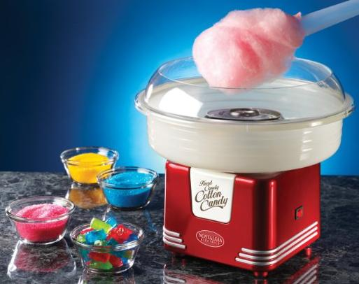 Nostalgia Electrics PCM405RETRORED Retro Series Hard and Sugar Free Cotton Candy Maker @ Amazon