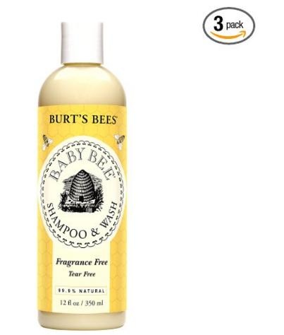 Burt's Bees Baby Bee Fragrance Free Shampoo & Wash, 12 Fluid Ounces (Pack of 3)
