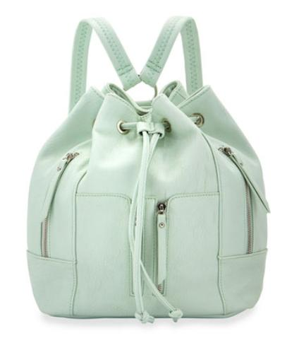 Faux-Leather Drawstring Backpack @ LastCall by Neiman Marcus