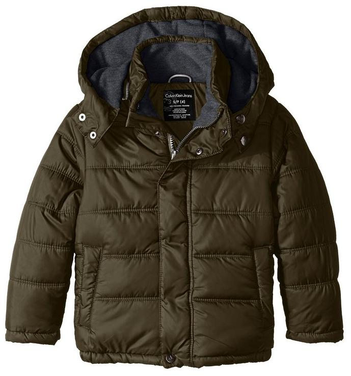 Calvin Klein Little Boys' Eclipse Short Bubble Jacket @ Amazon