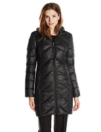 BCBGeneration Women's Packable Down Jacket with Hood