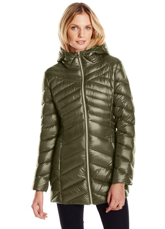 Jessica Simpson Women's Chevron Packable Down Jacket