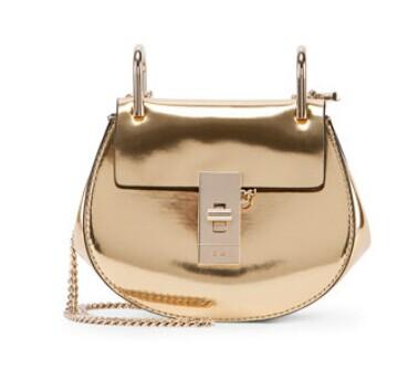 Chloe Drew Nano Mirror Leather Saddle Bag @ Neiman Marcus
