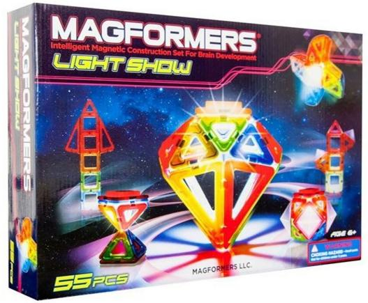 Magformers 55 Piece Lighted Set - 63092