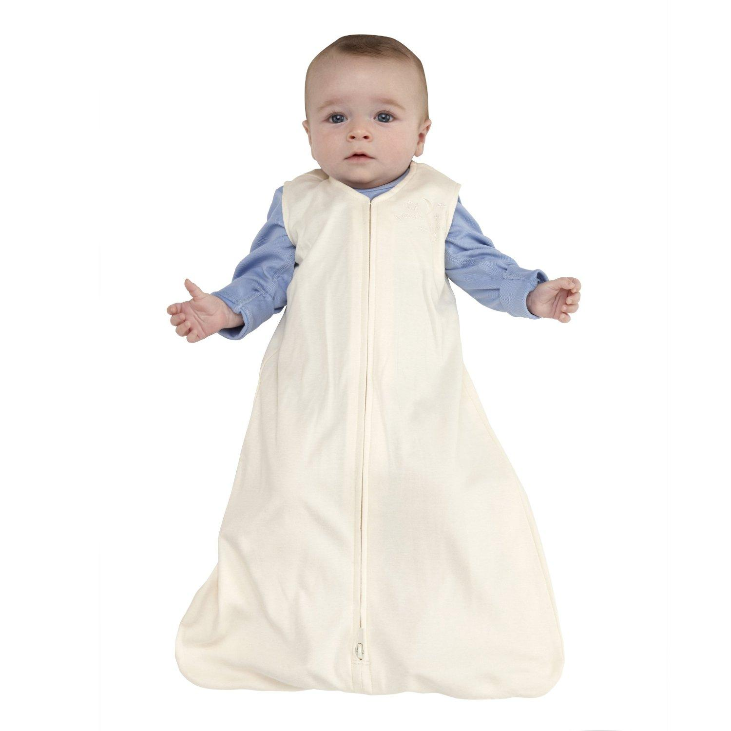 HALO SleepSack Micro-Fleece Wearable Blanket, Cream, Medium