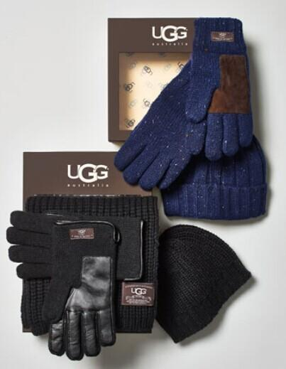 UGG Australia	 Men's Hat and Glove Box Set @ Neiman Marcus