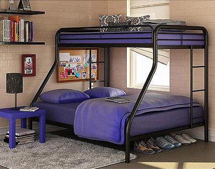 Dorel Twin-Over-Full Metal Bunk Bed @ Amazon