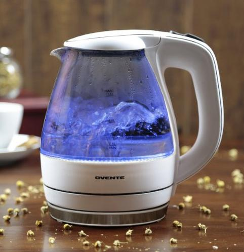 $19.99 Ovente KG83W Glass Electric Kettle, 1.5 L