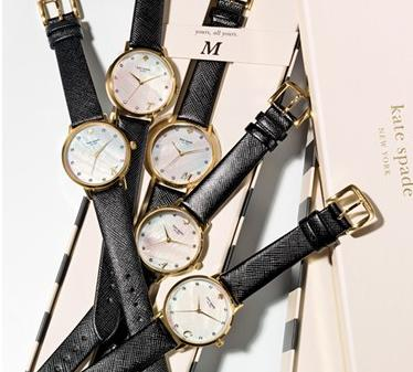 kate spade new york 'metro - monogram' leather strap watch, 34mm @ Nordstrom
