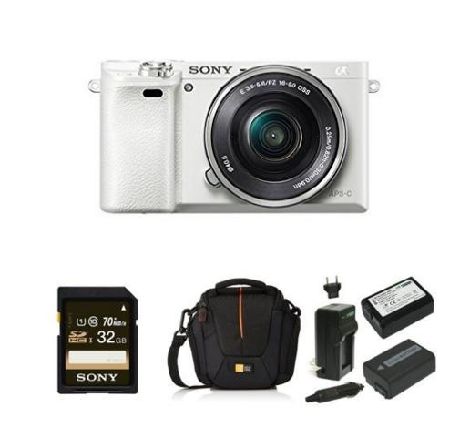 $548.00 Sony Alpha a6000 Mirrorless Camera + 16-50mm Lens  Deluxe Bundle