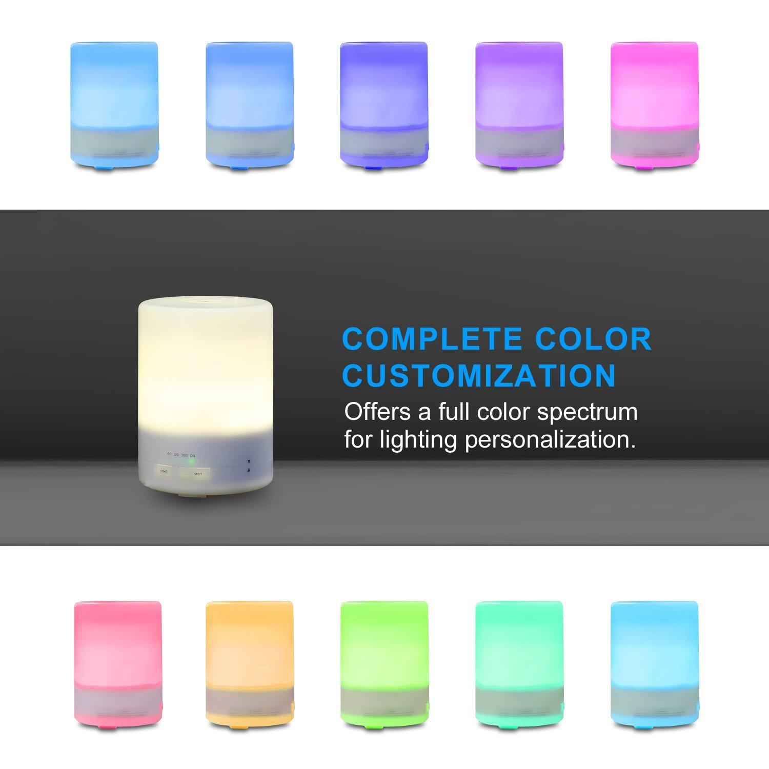 Etekcity 300ml Ultrasonic Aromatherapy Essential Oil Diffuser with Cool Aroma Mist