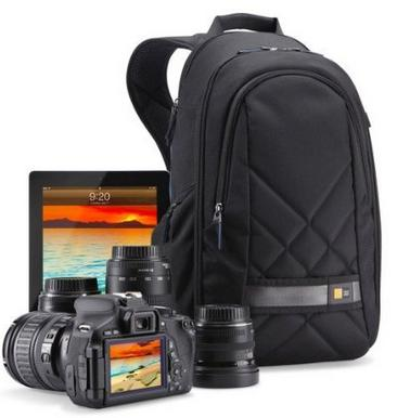 Case Logic CPL-108BK Backpack for DSLR Camera and iPad, Black