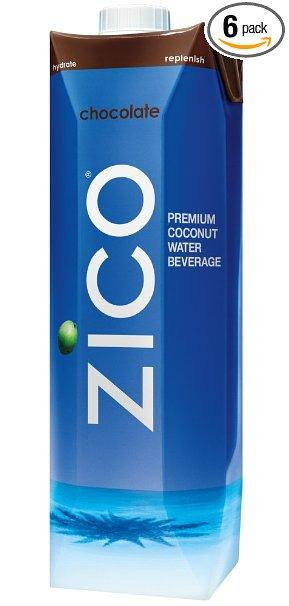 Zico Pure Premium Coconut Water Bottles, Chocolate, 33.8 Ounce (Pack of 6)