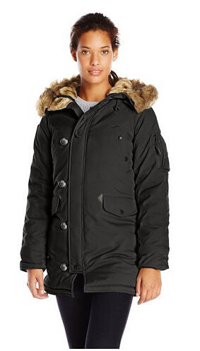 Alpha Industries Women's Altitude Slim Fit Oxford Nylon Parka