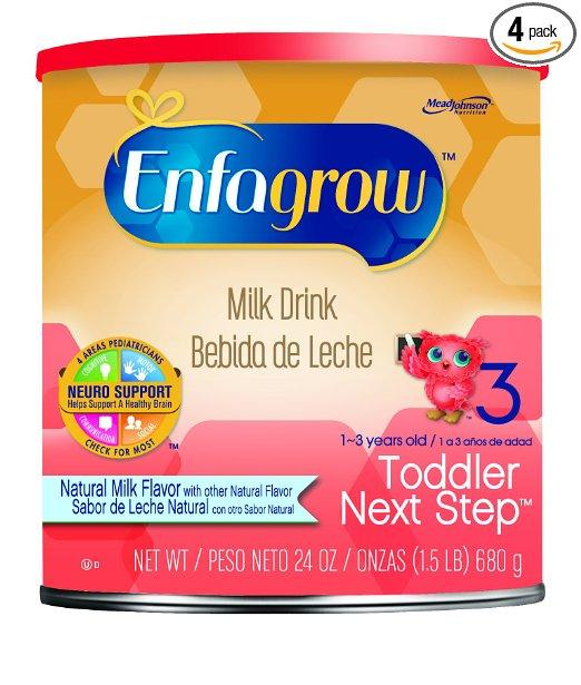 Prime Members Only! Enfagrow Next Step Natural Milk Powder Can, 24 Ounce (Pack of 4)