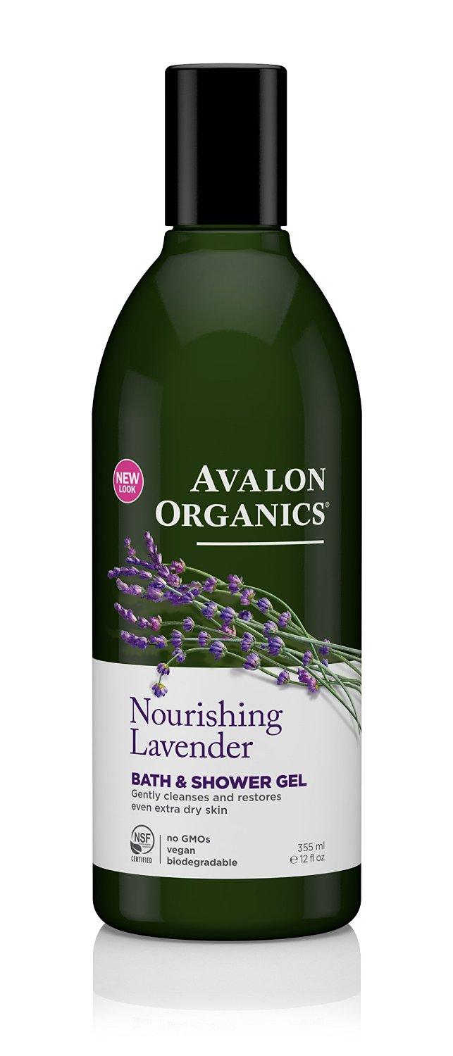 $4.99 Avalon Organics Bath & Shower Gel, Nourishing Lavender, 12 Fluid Ounce