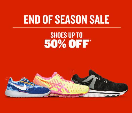 Up to 50% Off End of Season Sale at FinishLine.com