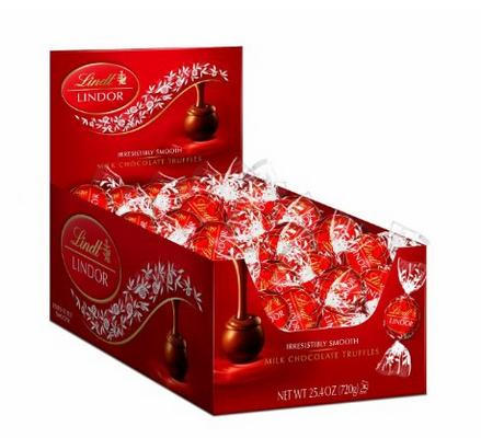 $17.66 Lindt LINDOR Milk Chocolate Truffles, 60 Count Box