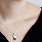 Hello Kitty Pendant with Crystal