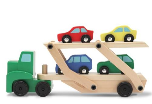 Melissa & Doug Car Carrier Truck & Cars Wooden Set @ Amazon