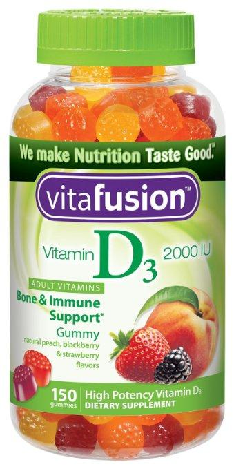 Vitafusion Vitamin D3 Gummy Vitamins, Assorted Flavors, 150 Count