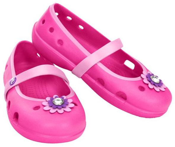 crocs Girls' Keeley Petal Charm Flat PS @ Amazon