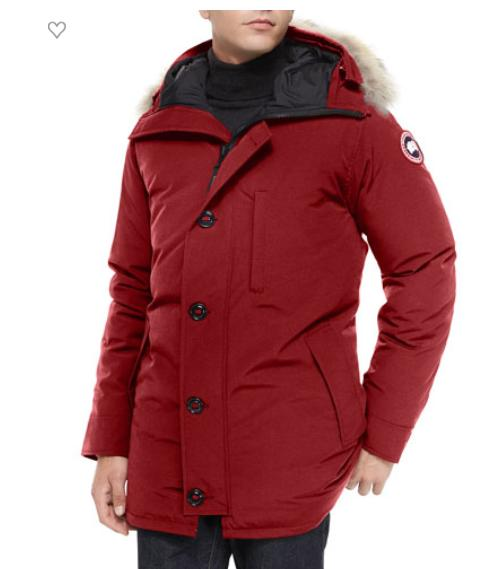 $200 Gift Card For Regular- Priced Canada Goose Chateau Fur-Trimmed Parka Jacket, Red @ Neiman Marcus