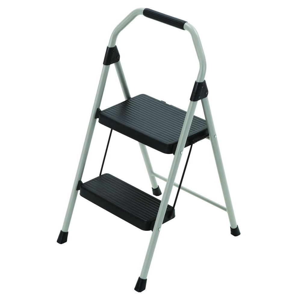 $12.88 Gorilla Ladders 2-Step Compact Steel Step Stool Ladder