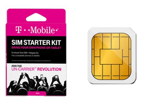 T-Mobile® Prepaid 3-in-1 SIM Starter Kit