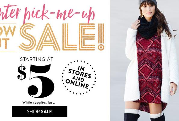 From $5 Charlotte Russe Winter Blow Out Sale