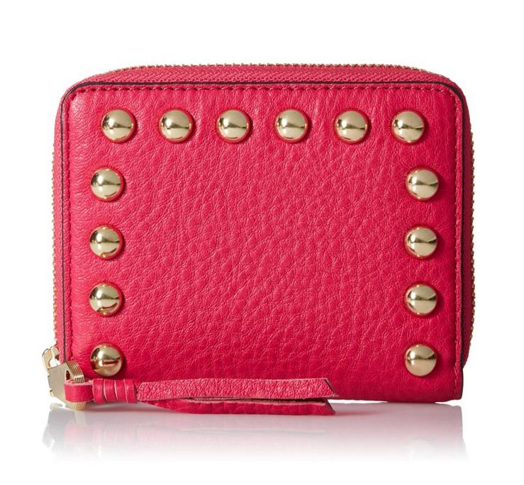 $31.42 Rebecca Minkoff Mini Ava Zip With Studs Wallet/ Coin Purse