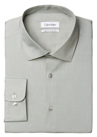 Calvin Klein Men's Regular-Fit Textured Dress Shirt