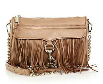 Rebecca Minkoff Mini MAC Convertible Fringed Leather Crossbody Bag