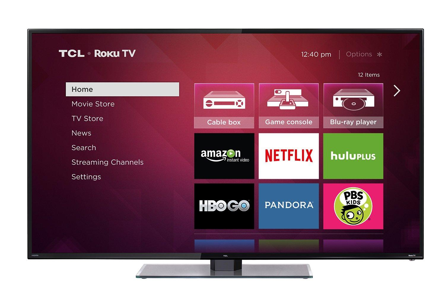 TCL 48-Inch 1080p Smart LED TV(Roku TV) 48FS3700