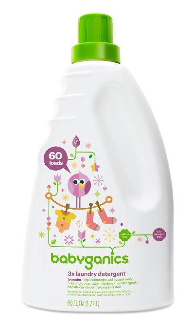 Prime Members Only! Babyganics 3x Baby Laundry Detergent, Lavender, 60 Fluid Ounce