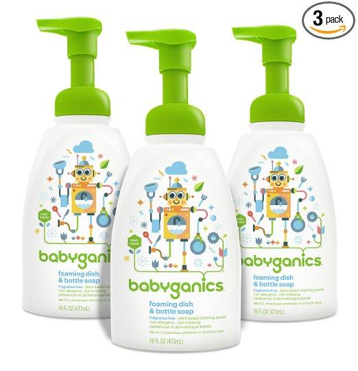Prime Members Only! Babyganics Foaming Dish and Bottle Soap, Citrus, 16oz Pump Bottle (Pack of 3)
