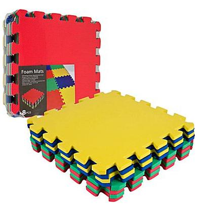 $7.99 Trademark 8 Piece Multi-Color EVA Foam Exercise Mats