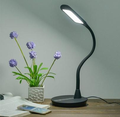 ANNT 10W Gooseneck Dimmable Eye-Care LED Desk Lamp with 1.5A USB Charging Port
