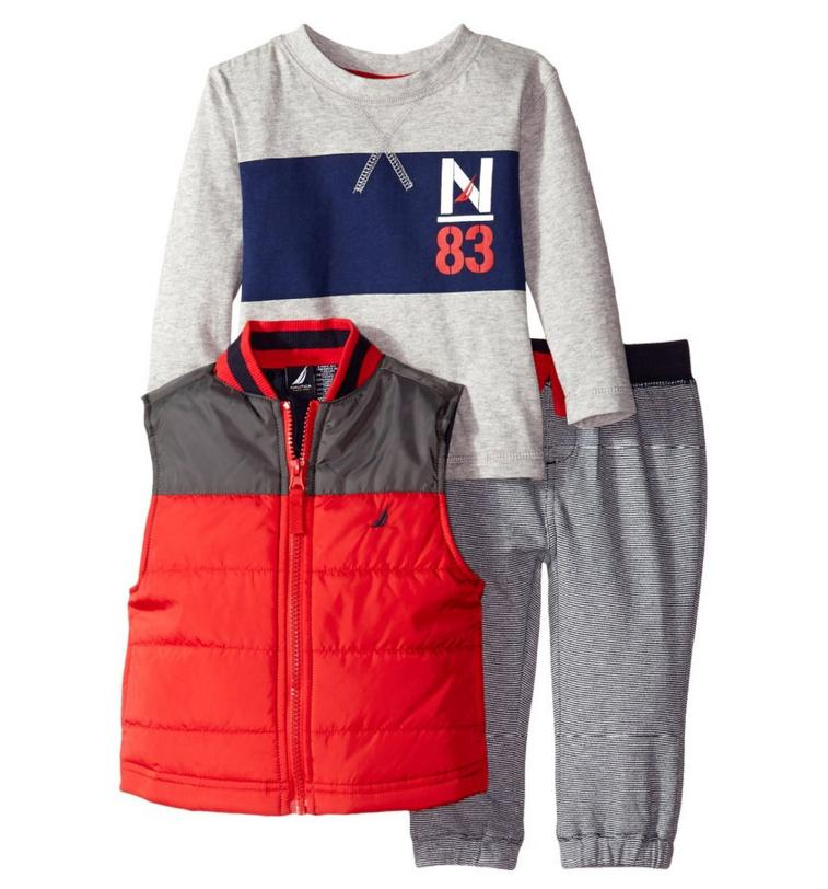 Nautica Baby Boys' 3 Piece Set Puffer Jacket Outerwear Set