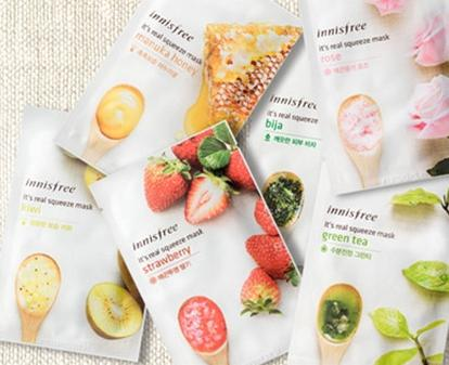 Buy 10 Get 10 Free Facial Masks @ Innisfree