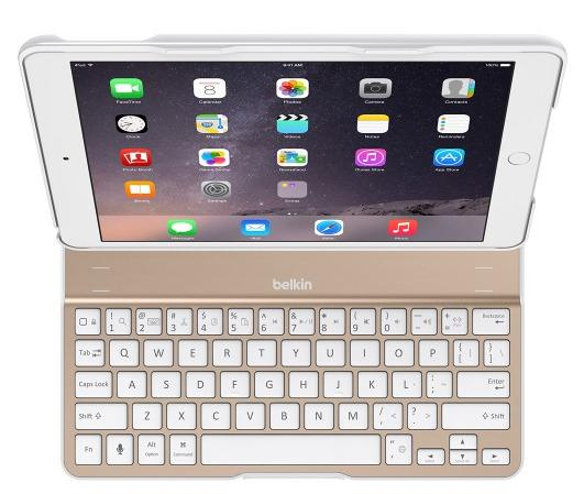 Belkin Ultimate Keyboard Case for Apple iPad Air 2 Gold