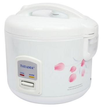 Tayama TRC-08 White Direct Heat 8 Cups (Cooked) Electric Rice Cooker